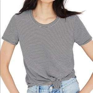 Madewell Knot Front Stripe Tee